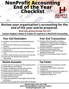 NonProfits Review-Year End Checklist- Accounting-Nonprofits-Hugheys Debits & Credits